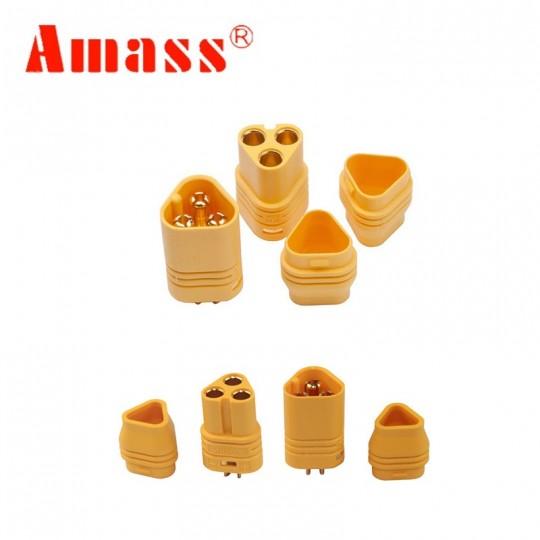 Разъем трехконтактный МT60 Amass комплект мама и папа