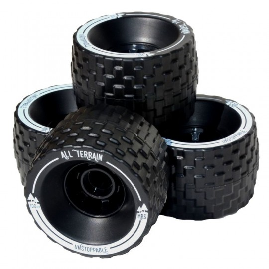 Колеса 100 мм. MBS All-Terrain Longboard Wheels - Black