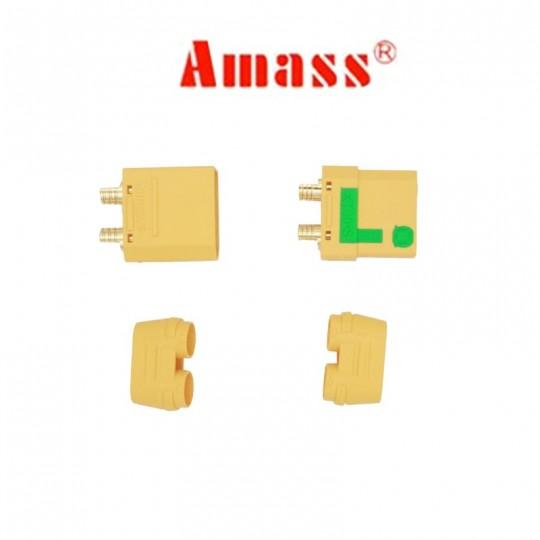 Разъем XT90-S Amass (анти-искра), комплект мама и папа