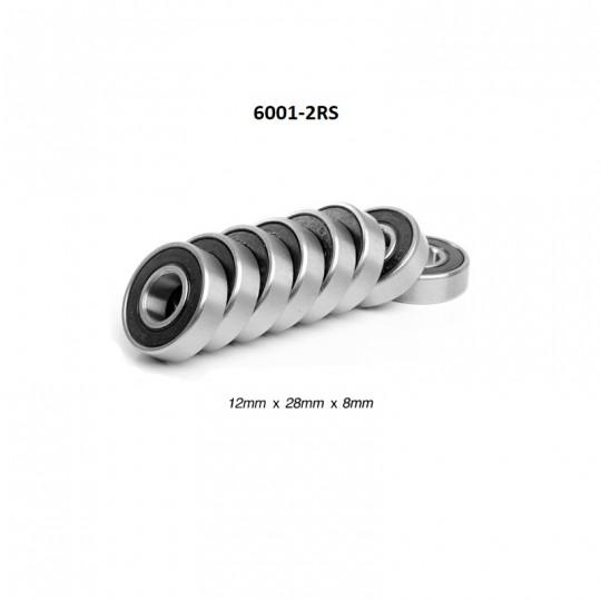 Подшипники 6001-2RS, 12х28х8 мм