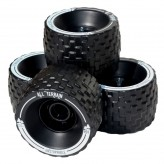 Колеса 100 мм. MBS All-Terrain Longboard Wheels - Black