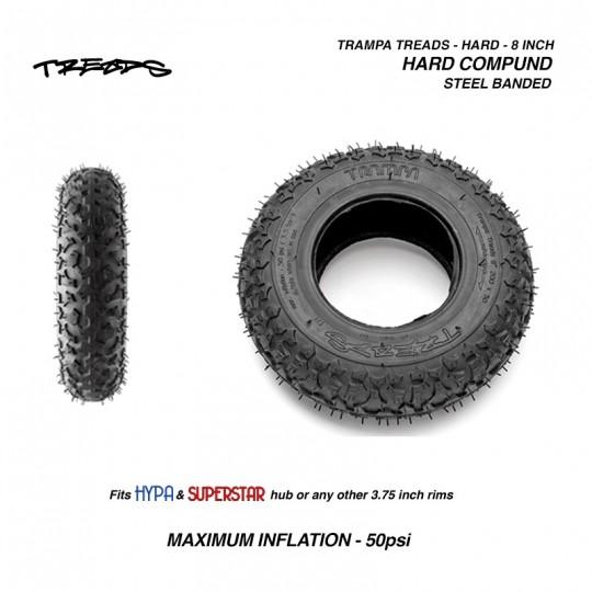 "Комплект покрышек Trampa Treads HARD compound 8"", 200х50мм"