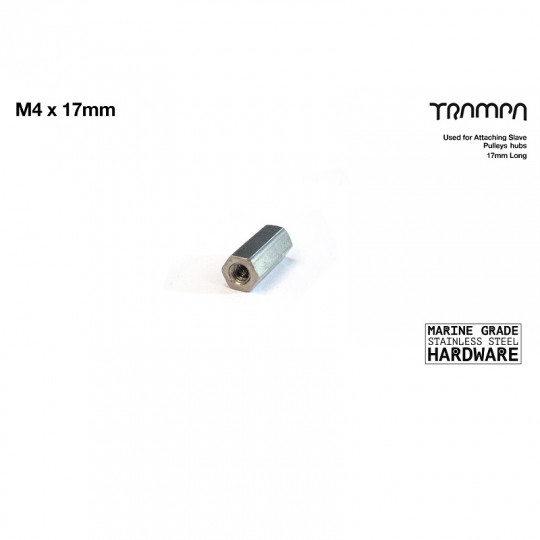 Муфта резьбовая соединительная М4 х 17 мм