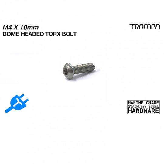 Винт с полукруглой головкой TORX М4х10 мм нержавеющая сталь