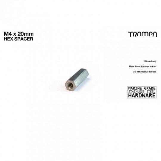Муфта резьбовая соединительная М4 х 20 мм