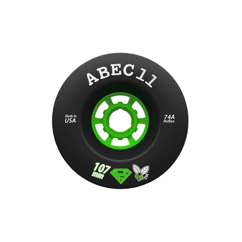 Комплект колёс ABEC11 SUPER FLY 107мм BLACK (74А)