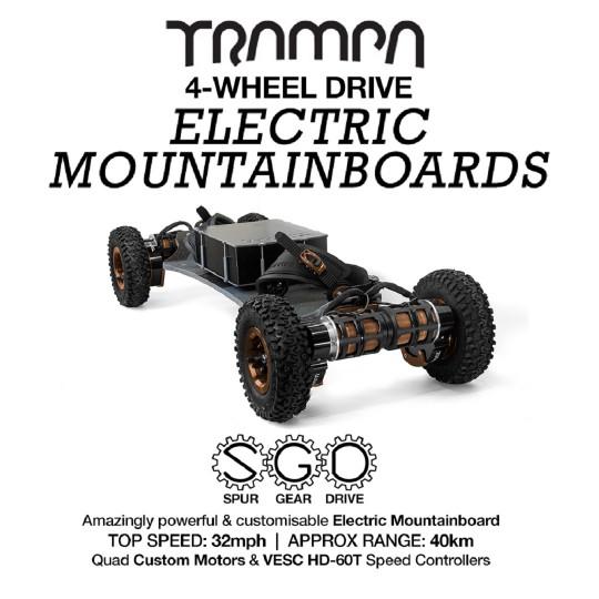 Электро маунтинборд Trampa 4WD с приводом SPUR GEAR DRIVE