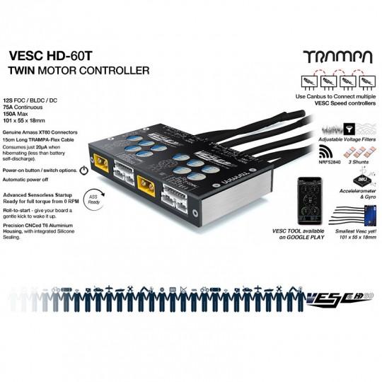 Trampa регулятор скорости VESC HD-60T TWIN