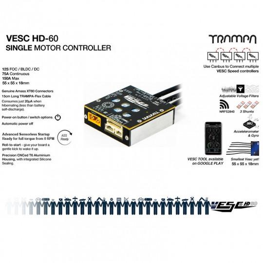 Trampa регулятор скорости VESC HD60 SINGLE