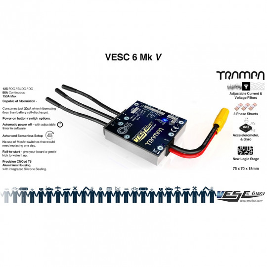 Trampa регулятор скорости VESC 6 MKV