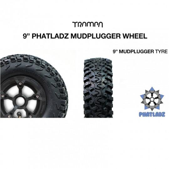 "Комплект 9"" колес Trampa PHATLADS с покрышками MUD PLUGGER"