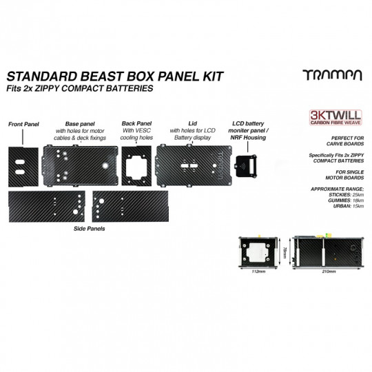 Бокс для аккумуляторов и VESC Trampa BEAST Box