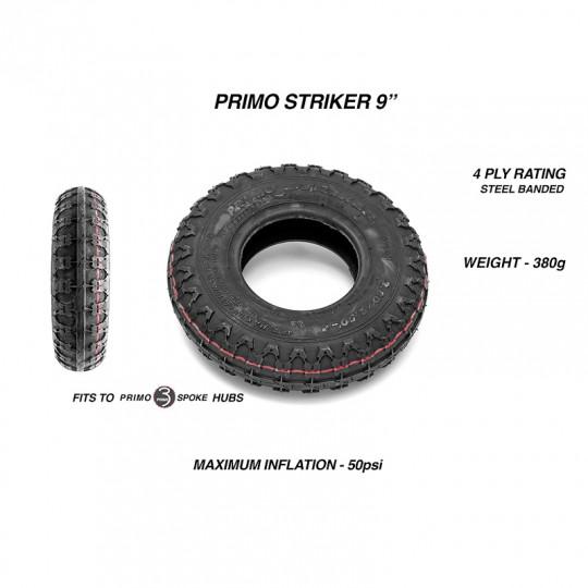 Комплект колес 9 дюймов Trampa MEGASTAR DEEP DISH с шинами Primo Striker