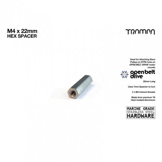 Муфта резьбовая соединительная М4 х 22 мм