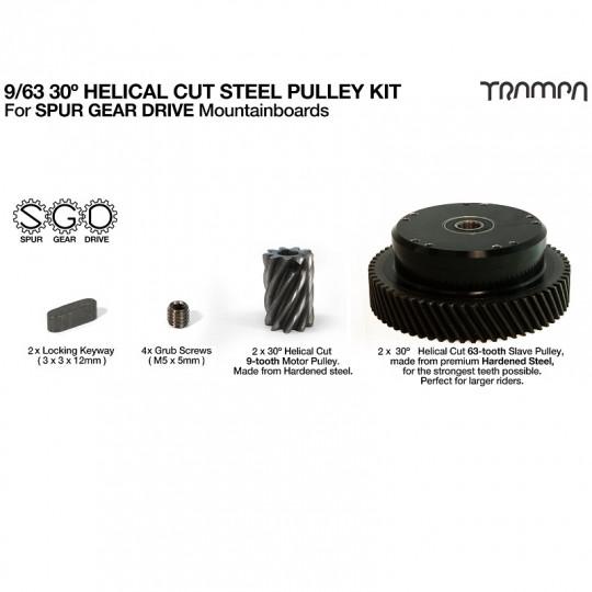 Комплект шестерней привода Trampa SPUR GEAR DRIVE косозубая передача 30º из закаленной стали