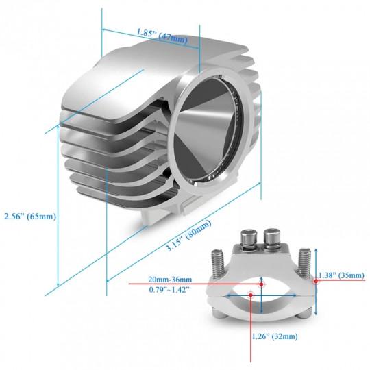 Универсальный светодиодный фонарь 15 Вт, 6000 К