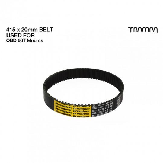 Зубчатый ремень HTD 5M шириной 20 мм. для электроскейта Trampa Strongbelt Premium HTD 5M 415 HP 20