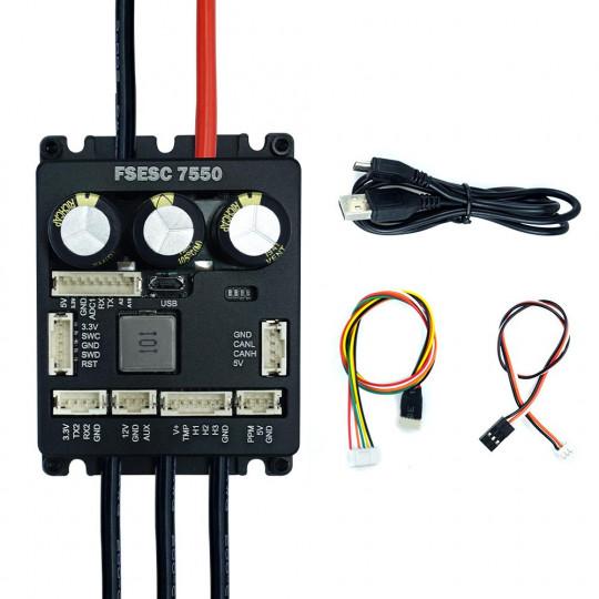 Регулятор скорости Flipsky FSESC 7550 75V ESC на основе VESC6 с алюминиевым корпусом