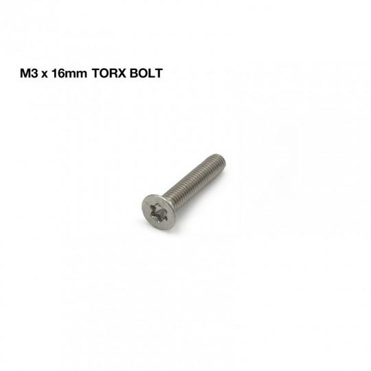 Винт с потайной головкой TORX полная резьба M3 x 16 А2-Нерж