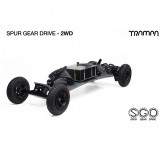 Электро маунтинборд Trampa 2WD с приводом SPUR GEAR DRIVE на деке BigBoi WINGS