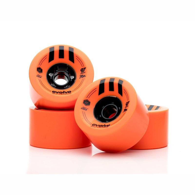 Комплект колес Evolve GTR Street 97 мм / 76A Orange