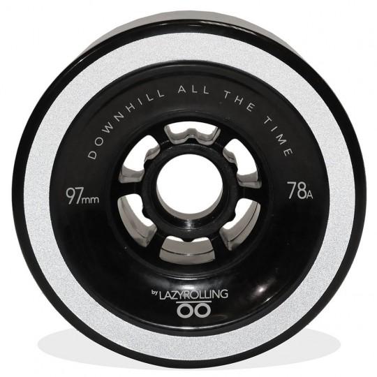Светоотражающие колеса Lazyrolling 97 мм / 78А Black