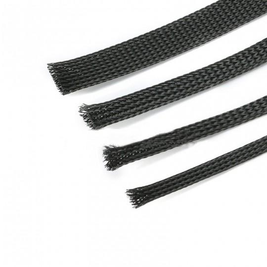 Оплетка защитная для проводов черная 15мм., 1м